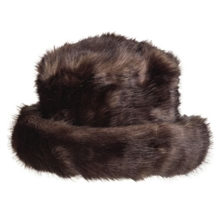 Dents Women`s faux fur hat with brim