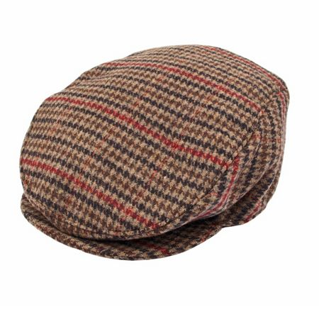 Dents Mens Dogtooth Flat Cap