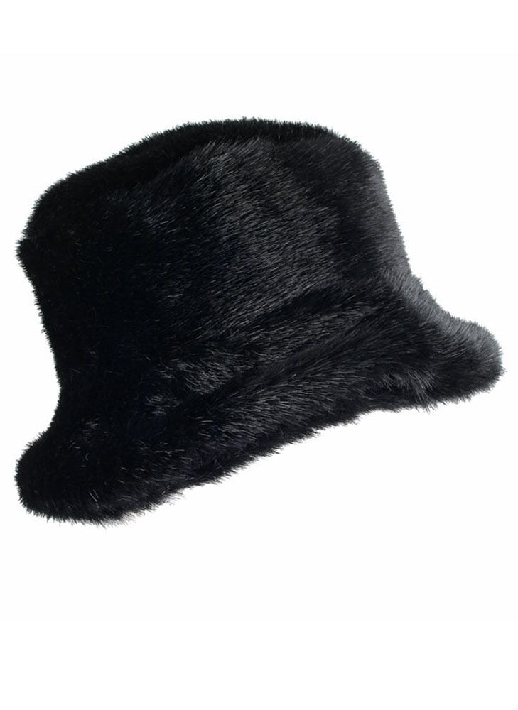 Dents Faux fur pull on hat $32.00 AT vintagedancer.com