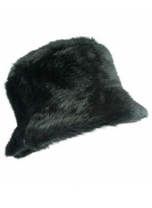 Faux fur pull on hat