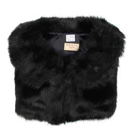Dents Faux fur collar cape