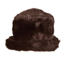 Dents Women`s faux fur hat wth brim