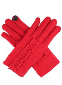 Ladies touchscreen woollen gloves