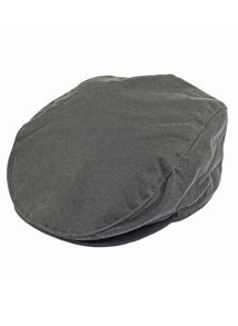 Dents mens wax cotton flat cap