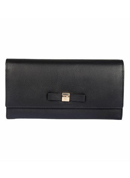 Dents Large soft leather purse with bow