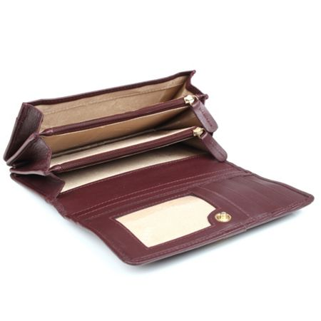 Dents Ladies flap over purse with strap