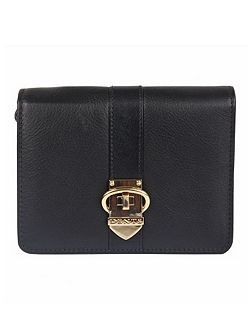 Soft leather purse with buckle detail