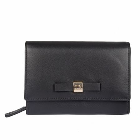 Dents Ladies flap over purse with bow detail