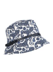 Dents Ladies denim paisley tapestry bucket hat