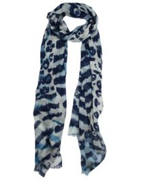 Dents Ladies abstract animal print scarf