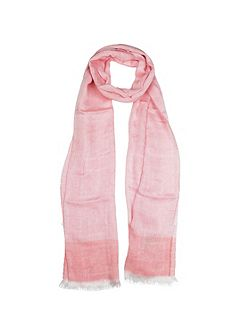 Woven floral scarf with colour border