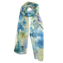Dents Ladies abstract watercolour print scarf