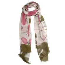 Dents Ladies abstract print block colour scarf