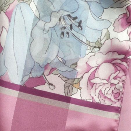 Dents Ladies floral print border scarf