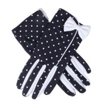 Dents ladies spotted cotton glove
