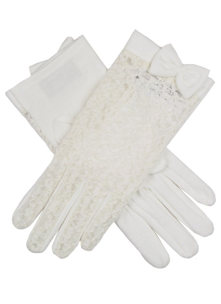 Edwardian Accessories Dents ladies lace back glove with cotton palm £11.20 AT vintagedancer.com