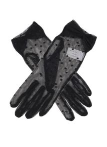 Dents ladies flock dot glove