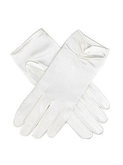 ladies satin ruched glove