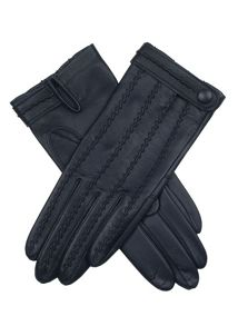 Dents Leather glove with stitch back detail