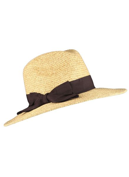 Dents Ladies fedora style paperstraw hat