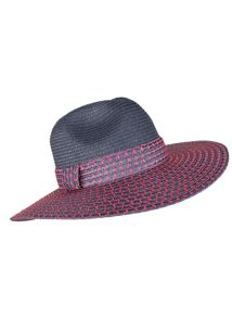 Dents Ladies wide brim paperstraw hat