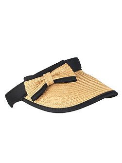 Ladies paperstraw visor with bow detail