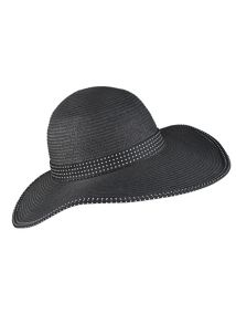 Dents Wide brim paperstraw hat with split brim