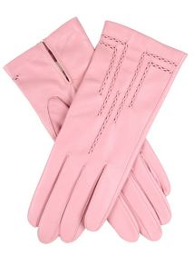 Dents Leather glove with art deco detail