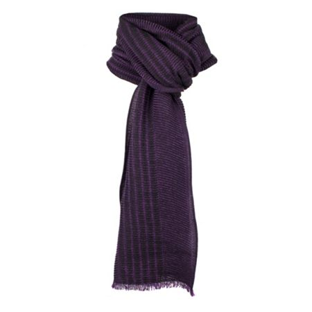 Dents Mens two tone italian woven scarf