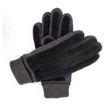 Dents Mens casual suede gloves with knit cuff