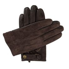 Dents Mens leather gloves with suede back