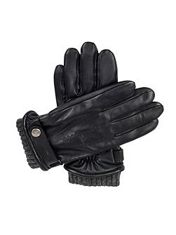 Mens leather touchscreen casual gloves