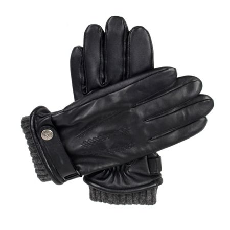 Dents Mens leather touchscreen casual gloves
