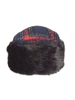 Women`s cossack hat with faux fur trim