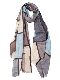 Women`s square printed scarf