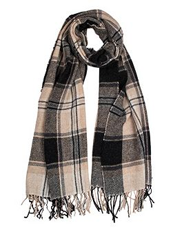 Women`s woven checked scarf
