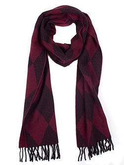 Women`s woven harlequin scarf