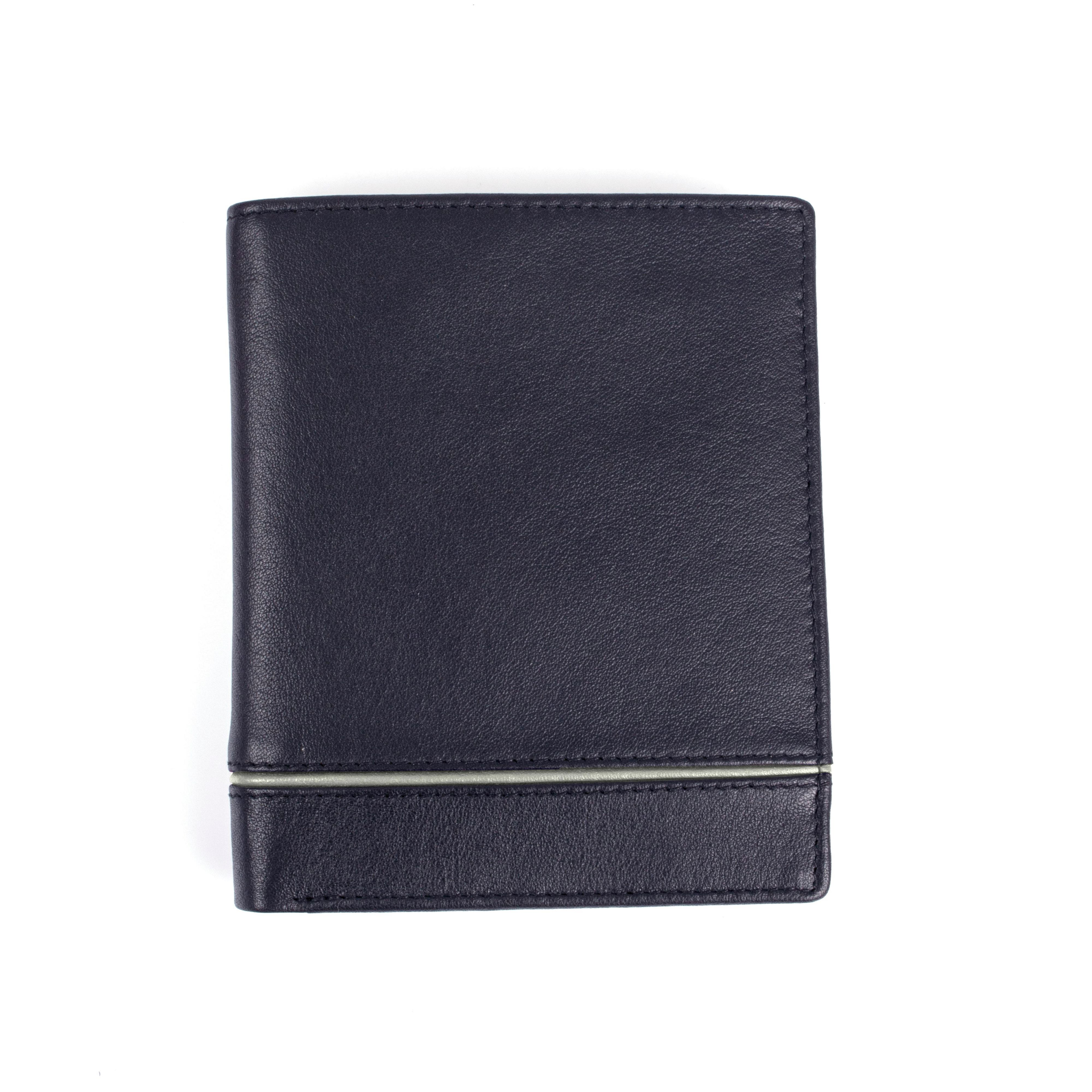 Dents Dents Mens leather RFID protection wallet, Navy