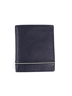 Mens leather RFID protection wallet