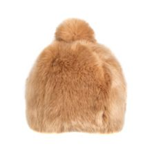 Dents Womens faux fur hat with pom