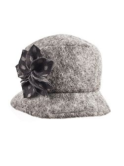 Women`s marl wool bucket hat