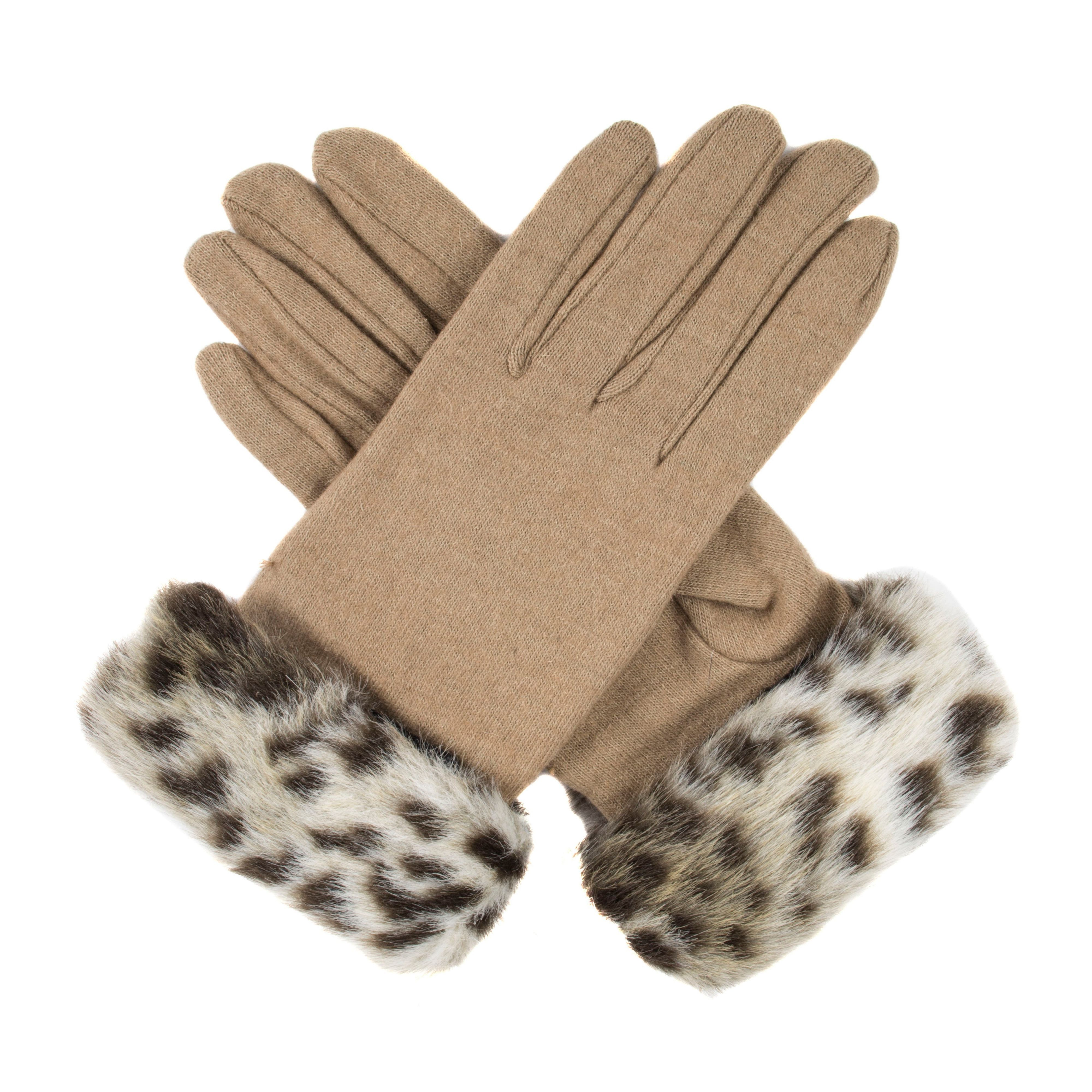 Vintage Style Gloves Dents Womens gloves with faux fur cuff Cream £12.80 AT vintagedancer.com