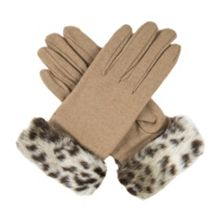 Dents Women`s gloves with faux fur cuff