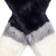 Dents Women`s three colour faux fur scarf