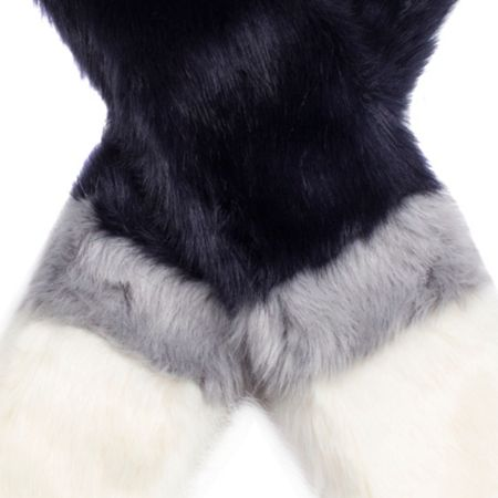 Dents Womens three colour faux fur scarf