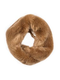 Women`s faux fur eternity scarf