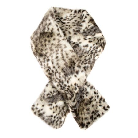 Dents Womens animal print faux fur scarf