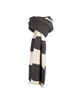 Mens donegal cable knit scarf