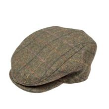 Dents Mens flat cap in abraham moon tweed