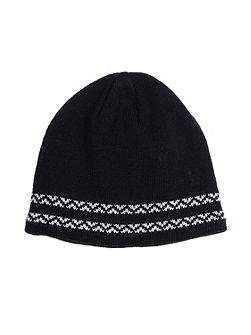 Mens knitted hat with contrast detail